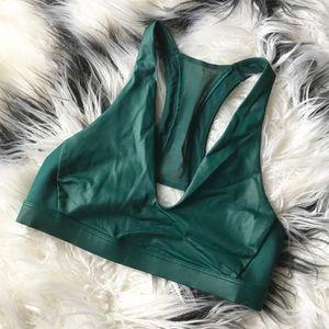 Victoria Sport Metallic Green Bralette sz Small